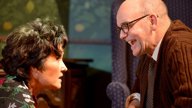 """Sandra Birch and John Seibert in """"Who's Afraid of Virginia Woolf?"""" at Performance Network Theatre."""