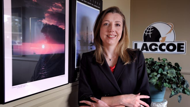 LAGCOE executive director Angela Cring in his office.