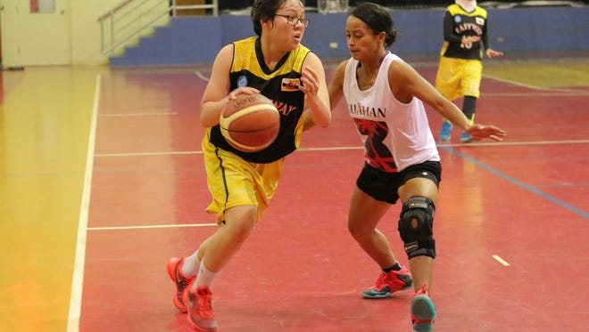 Brunei vs. Guam at the Governor's Youth Athletics Invitation women's basketball game on Nov.6