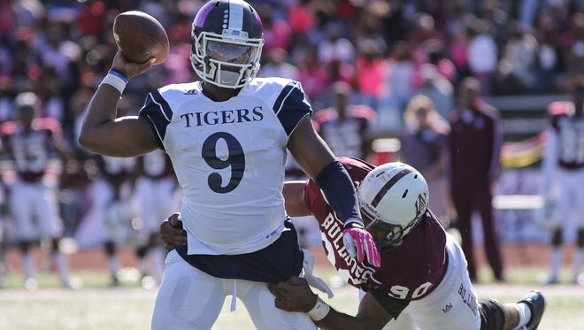 LaMontiez Ivy, who is nursing a banged-up ankle, is projected to start at quarterback for Jackson State this week.