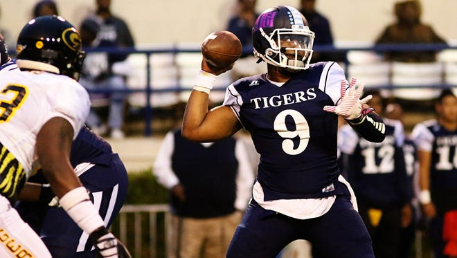 JSU quarterback LaMontiez Ivy, pictured against Grambling, will sit out the remainder of the season to rest an injured ankle.