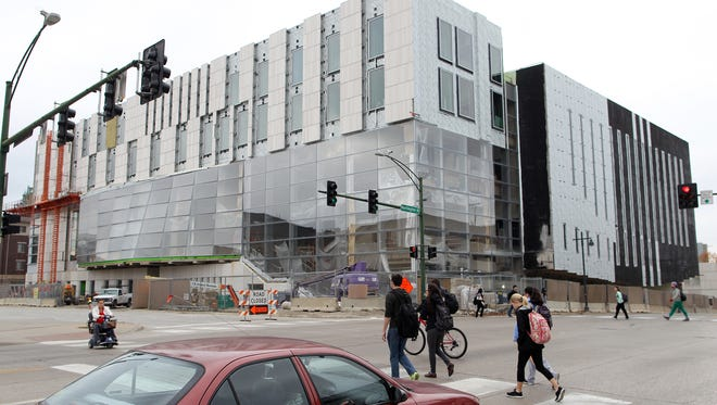 Construction continues at the University of Iowa Voxman Music Building on Wednesday, Nov. 11, 2015.