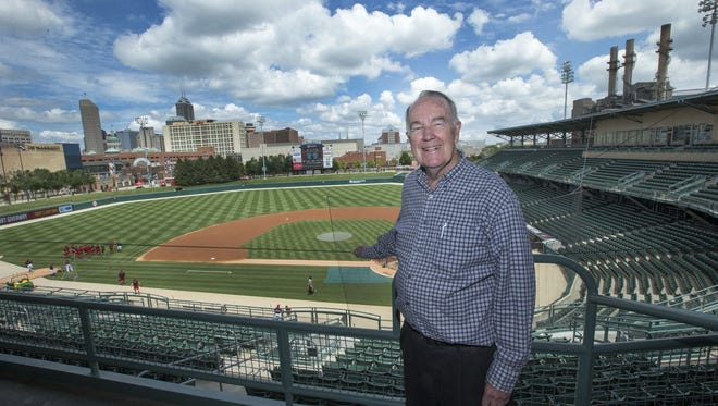Max Schumacher, Indianapolis Indians President and Chairman of the Board at Victory Field last season.