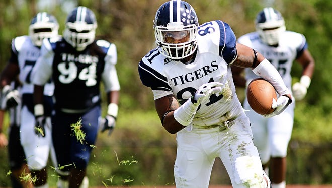 JSU receiver Daniel Williams was one of five Tigers to be named All-SWAC first or second team.
