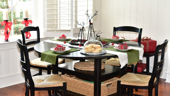 A charming holiday breakfast area.