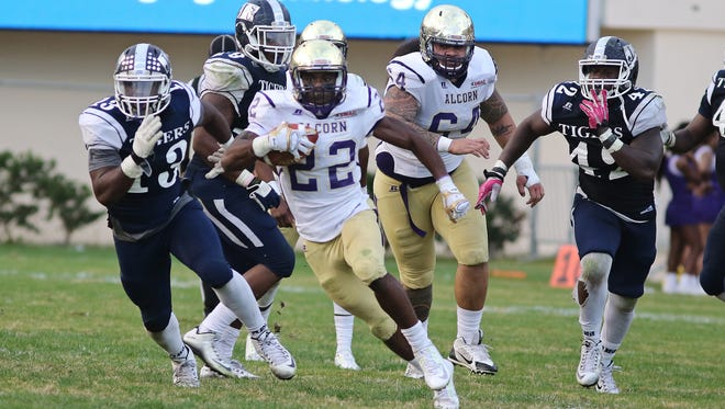 Alcorn State running back Darryan Ragsdale, pictured against Jackson State, ran for 188 yards in the SWAC title game.