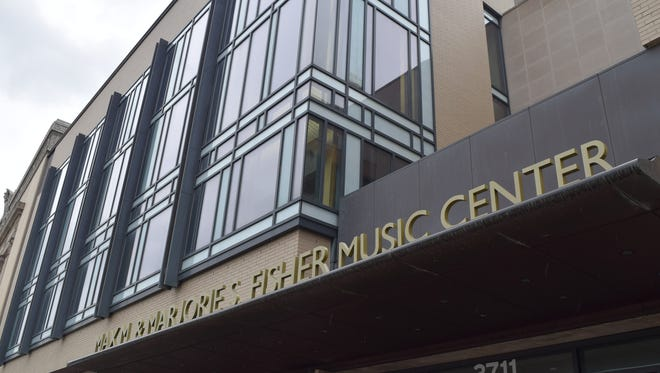 The new sign at the rechristened Max M. and Marjorie S. Fisher Music Center.