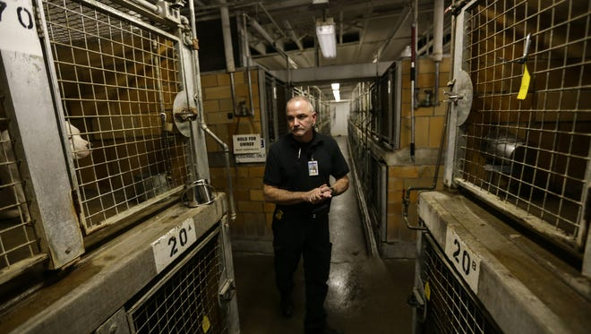 Detroit Animal Control Manager Harry Ward gives a tour of the Detroit Police Department Animal Control Unit on Wednesday October 28, 2015.