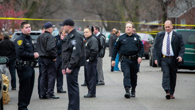 Detroit Police and the Michigan State Police are investigating the the fatal shooting of an unarmed suspect by a Dearborn police officer on Detroit's westside, on Wednesday, Dec. 23, 2015. Dearborn Police is handling administrative matters from of the case.