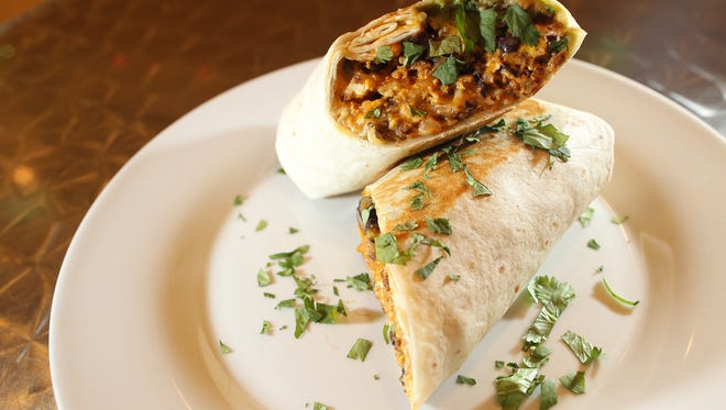 Nodo's chorizo and egg burrito is pictured on Tuesday, Jan. 19, 2016.