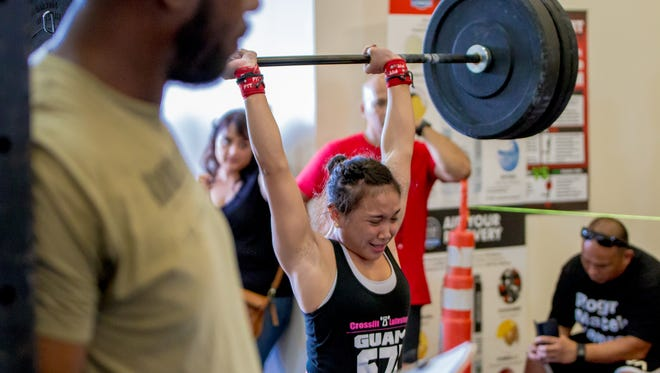 Participants compete at the 2016 Latte Games held at Crossfit Latte Stone in Harmon on Jan. 16.