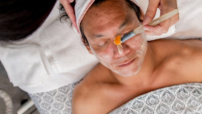 After the extraction process, the face is cleansed and a multivitamin mask is  applied.