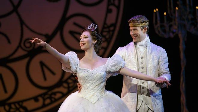 "Kaitlyn Davidson and Andy Huntington Jones in ""Rodgers + Hammerstein's Cinderella."""