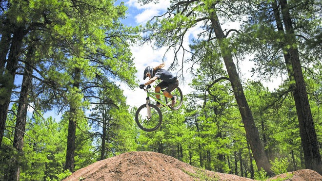 The woods of Flagstaff are great for adventure biking.