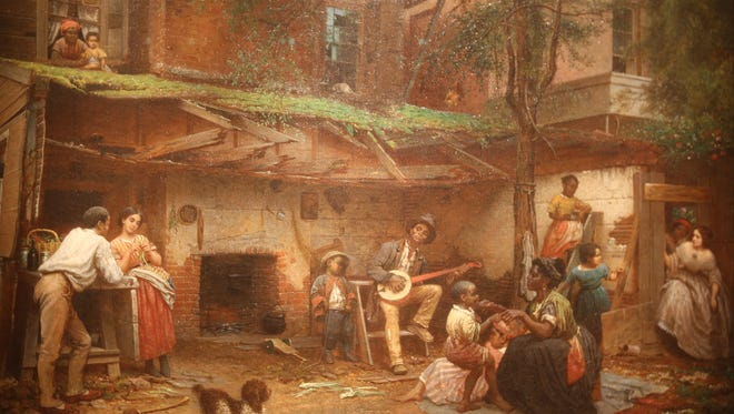 """Eastman Johnson's painting """"Negro Life at the South"""" (1859) is part of """"Dance! American Art 1830-1960"""" at the Detroit Institute of Arts."""