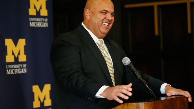 New Michigan athletic director Warde Manuel