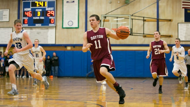 Dayton junior Zach Bernards is a finalist for the All-Mid-Valley boys basketball player of the year.