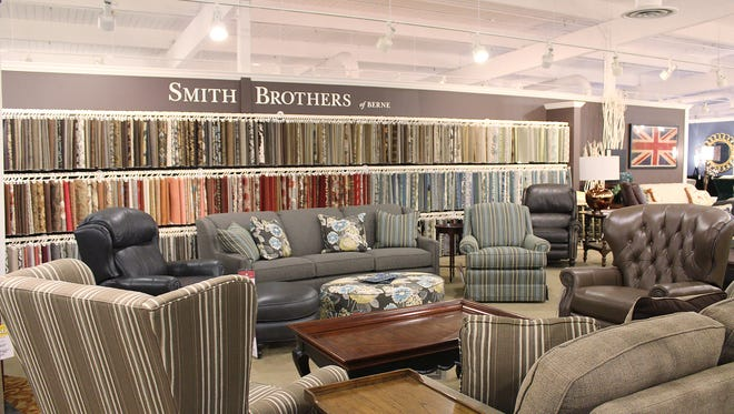 Fabric swatches are displayed in Kittle's Castleton location.