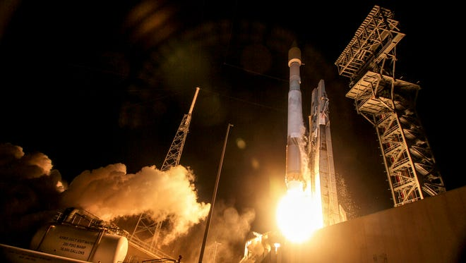 A United Launch Alliance Atlas V rocket carrying the OA-6 mission lifted off from Cape Canaveral Air Force Station's Launch Complex 41 at 11:05 p.m. EDT on March 22, 2016.