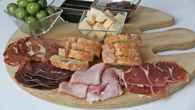 A tray of things to taste, at Lino's Coffee, in Speedway. Sample the town's Main Street restaurants at Taste of Speedway April 21.