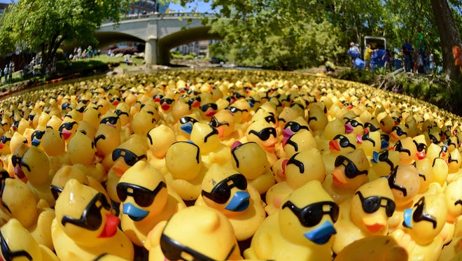 The annual Reedy River Duck Derby will be held on May 7 in Falls Park. The event raises money for local charities.