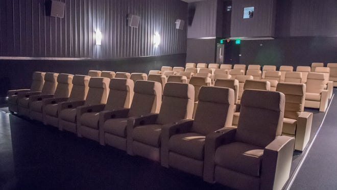 New seats that recline are at the newly remolded NCG Cinema at Lakeview Square Mall.