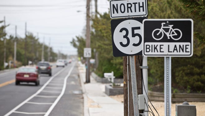 The reconstruction of Route 35 along the barrier island of northern Ocean County cost $341 million, or 29 percent above the original budget. Mantoloking, NJ  Thursday, May 5, 2016 @DhoodHood