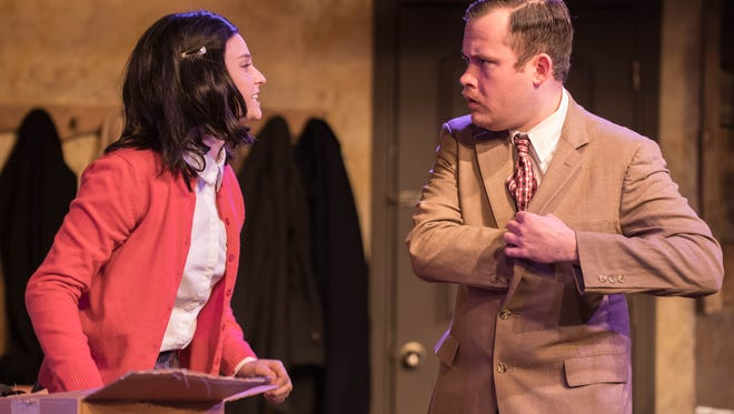 "Anne Frank (Averi Beck) and Otto Frank (Joe Dely) in ""The Diary of Anne Frank"" at What A Do Theatre."