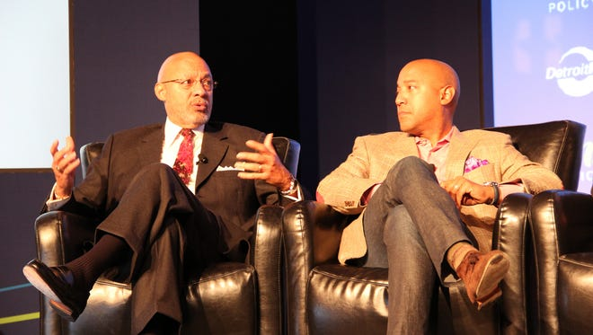 Dennis Archer and Dennis Archer Jr. at the Detroit Regional Chamber's 2013 Mackinac Policy Conference.