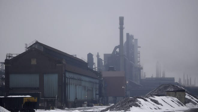 The then-Severstal steel plant operating in Dearborn on Feb. 20, 2014. Now owned by AK Steel, the company is seeking the same tax breaks as Severstal received. Mandi Wright/Detroit Free Press