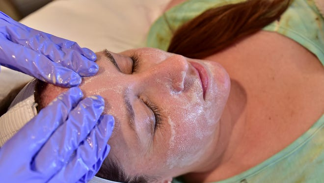 An oxygen facial is one of the many options at Navarre Wellness.
