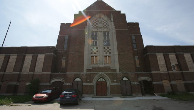 Woods Cathedral in the Linwood-Dexter neighborhood in Detroit is the site for a future exhibit partnership between Moran Bondaroff and Paul Johnson, on Thursday, May 26, 2016.