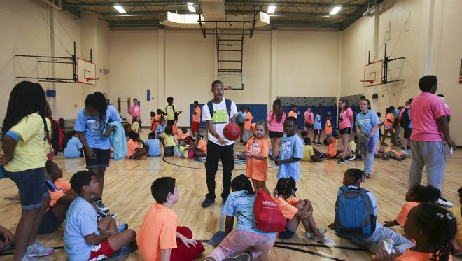 Over 200 children ages 5-18 gathered to participate in Triple Play Takeover hosted by the Boys and Girls Club of America, funded by Anthem Blue Cross Blue Shield, at the Boys and Girls Club of Indianapolis, LeGore Club on June 20 2016.