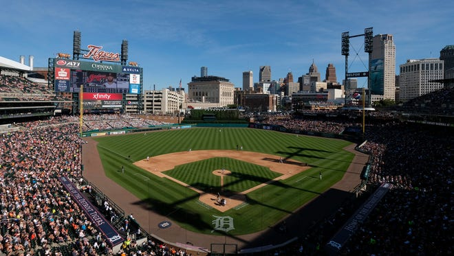 General view during the sixth inning of the Tigers' 6-0 loss Saturday at Comerica Park.