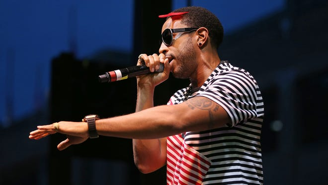Ludacris performs at the Pavilion at Pan Am Plaza for the INDYpendence Day Concert for Cancer, Indianapolis, Saturday, July 2, 2016.