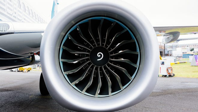 The Boeing 737 Max jet uses a pair of CFM International's Leap engines. CFM is a joint venture between GE Aviation and Safran's Snecma.