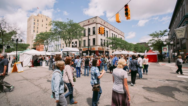 The Ann Arbor Street Art Fair in 2014.