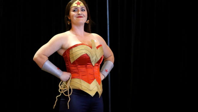 Stephanie Galver, 28, of Salem, dresses as Wonder Woman for the costume contest during the Northwest Comic Fest at the Salem Convention Center in 2015.