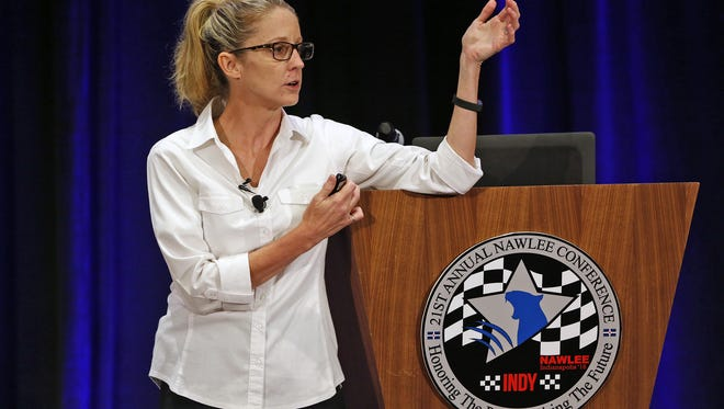 Dallas Police Department Lt. Pam Starr speaks during the 21st Annual National Association of Women Law Enforcement Executives (NAWLEE) Conference at the JW Marriott, Sunday, July 31, 2016.