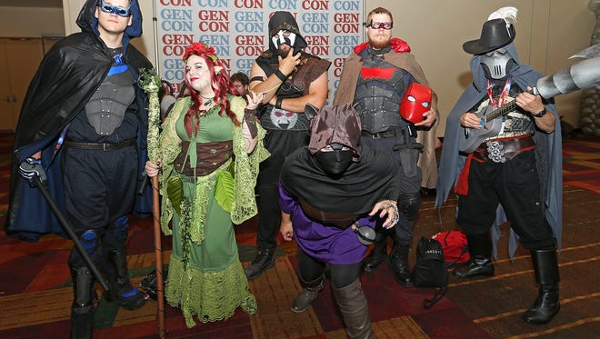 A group of cosplayers during Gen Con at the Indiana Convention Center in Downtown Indianapolis, Aug. 6, 2016.