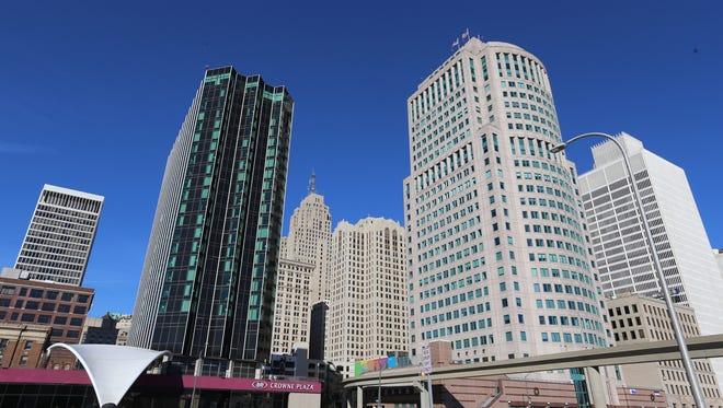 Detroit skyline on Wednesday, November 25, 2015