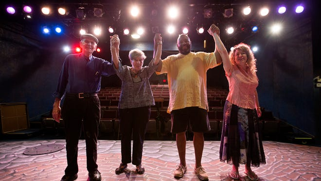 Bruce Millan, left, Barbara Busby, Lynch Travis and  Leah Smith are celebrating the launch of Detroit Repertory Theatre's 60th-anniversary season.