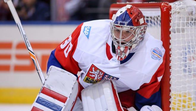 Team Czech Republic goaltender Michal Neuvirth