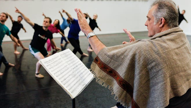 "Choreographer-director Mark Morris leads a studio rehearsal of ""Layla and Majnun."""