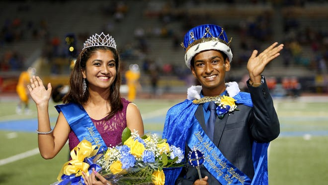 Texas A&M University-Kingsville Queen, Nilofar Sayyad, and King, Ajinkya Pawar.