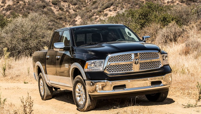 Fiat Chrysler Automobiles' profit margin increased, in part because it sold more higher-priced Jeep SUVs and Ram pickups. Shown is the 2016 Ram 1500 Outdoorsman Crew Cab 4x4 EcoDiesel.
