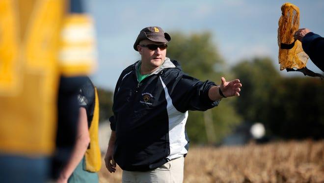 Breckenridge's head coach Kris Robinson during practice on Tuesday, October 26, 2016, in Breckenridge, MI.