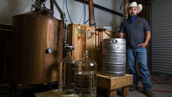 Royel Aguilar started South Texas Distillery in July in Sandia. He makes Wild Rag Vodka there, which is now sold around the Coastal Bend and in Austin and Houston.