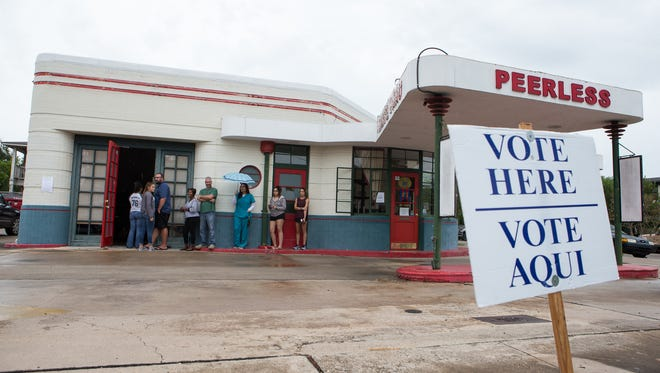 In this file photo, residents wait in line to vote in the 2016 election. This year, Election Day is Nov. 6.