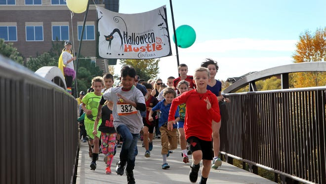 Nearly 1,000 people ran or walked in UCHealth Halloween Hustle in Loveland on Oct. 15. The annual event was the culminating race in the 2016 Healthy Kids Run Series. The event included a 2.25-mile fun run/ walk, a 1-mile kids run and numerous other activities to educate and promote healthy living.